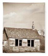 Abandoned Montana Shcoolhouse Fleece Blanket