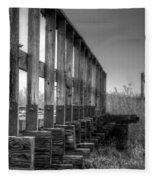 Abandoned Railway  Fleece Blanket