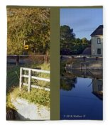 Abbotts Pond - Gently Cross Your Eyes And Focus On The Middle Image Fleece Blanket