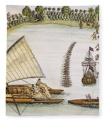Abel Tasman Expedition 1643 Fleece Blanket