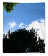 Above The Trees Fleece Blanket