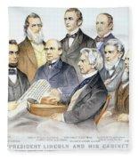 Abraham Lincolns Cabinet Fleece Blanket
