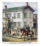 Abraham Lincolns Home Fleece Blanket