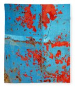 Abstrac Texture Of The Paint Peeling Iron Drum Fleece Blanket