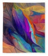 Abstract 021212 Fleece Blanket