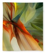 Abstract 021412a Fleece Blanket