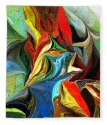 Abstract 021712 Fleece Blanket