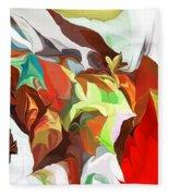 Abstract 090112 Fleece Blanket