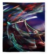 abstract 092111A Fleece Blanket