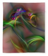 Abstract 101211b Fleece Blanket