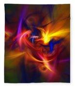 Abstract 112811b Fleece Blanket