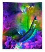 Abstract 255 Fleece Blanket