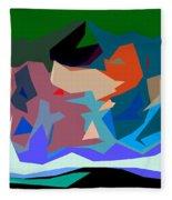 Abstract 28 Fleece Blanket