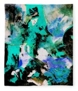 Abstract 690506 Fleece Blanket