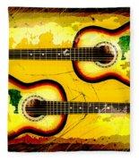 Abstract Acoustic Fleece Blanket