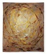 Abstract Art Twelve Fleece Blanket