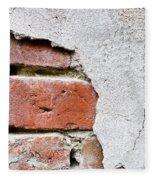 Abstract Brick Wall II Fleece Blanket