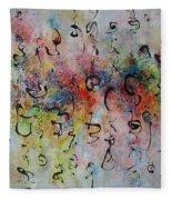 Abstract Calligraphy115 Fleece Blanket