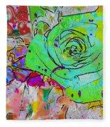 Abstract Childlike Rose Fleece Blanket