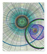 Abstract Circle Art Fleece Blanket