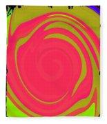 Abstract Color Merge Fleece Blanket