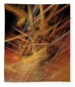 Abstract Crisscross Fleece Blanket