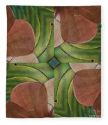 Abstract Curves Fleece Blanket