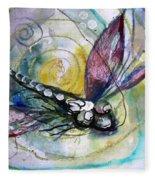 Abstract Dragonfly 11 Fleece Blanket