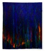 Abstract Evergreens Fleece Blanket