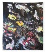 Abstract Fish212 Fleece Blanket