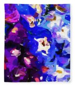 Abstract Floral 031112 Fleece Blanket