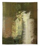 Abstract Floral 04v2g Fleece Blanket