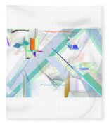 Abstract Flying Objects Fleece Blanket