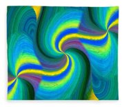 Abstract Fusion 108 Fleece Blanket