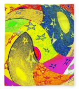 Abstract Fusion 110 Fleece Blanket