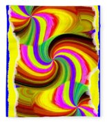 Abstract Fusion 123 Fleece Blanket