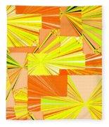 Abstract Fusion 14 Fleece Blanket