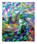 Abstract Fusion 15 Fleece Blanket