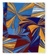 Abstract Fusion 34 Fleece Blanket