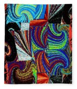 Abstract Fusion 37 Fleece Blanket