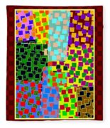 Abstract Fusion 43 Fleece Blanket