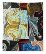 Abstract Fusion 45 Fleece Blanket
