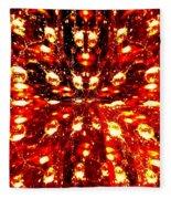 Abstract Fusion 76 Fleece Blanket