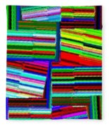Abstract Fusion 77 Fleece Blanket