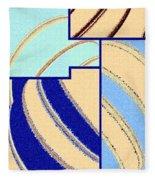 Abstract Fusion 94 Fleece Blanket