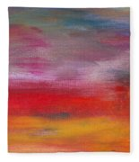 Abstract - Guash And Acrylic - Pleasant Dreams Fleece Blanket