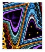 Abstract Hearts Fleece Blanket