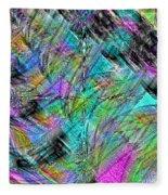 Abstract In Chalk Fleece Blanket