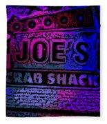 Abstract Joe's Crabshack Sign Fleece Blanket