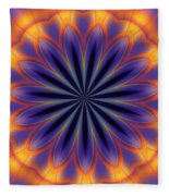 Abstract Kaleidoscope Fleece Blanket